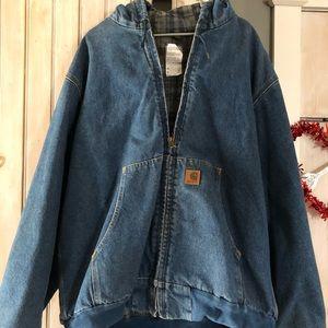 Men's carhartt lined jean jacket nwot